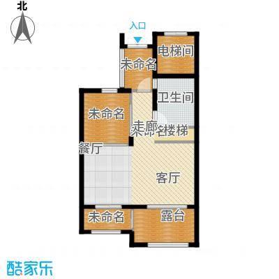 西溪山庄90.00㎡东方苑复式下层户型3室2厅2卫