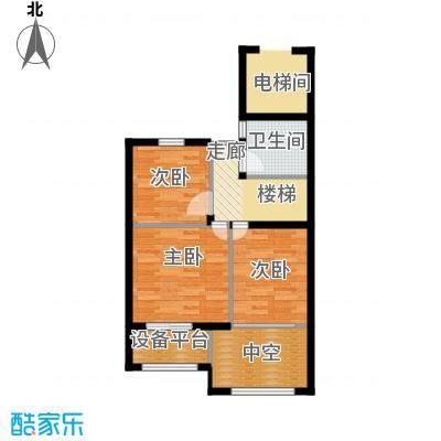 西溪山庄90.00㎡东方苑复式上层户型3室2厅2卫