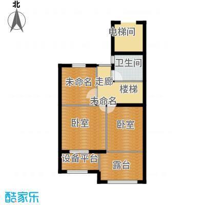 西溪山庄88.00㎡东方苑LOFT边套1层户型3室2厅2卫