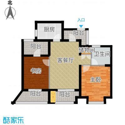 金都夏宫88.00㎡夏宫荷院3号楼C3偶数层户型2室2厅1卫