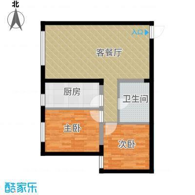 阳光100国际新城91.00㎡二期住宅户型2室1厅1卫1厨
