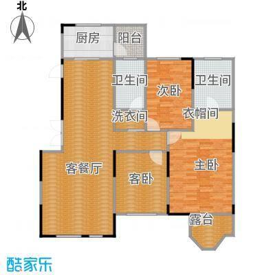 藏珑1620134.00㎡A5户型3室1厅2卫1厨