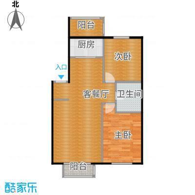 塞纳家园61.27㎡户型2室1厅1卫1厨