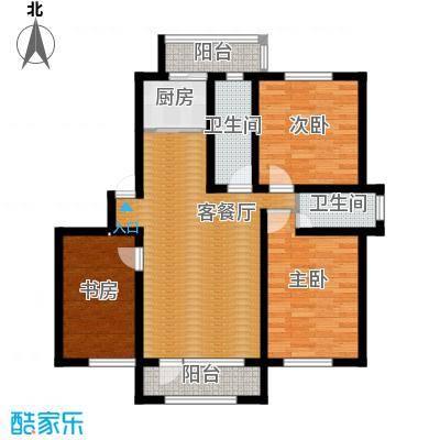 天润中华城110.37㎡F户型3室2厅2卫