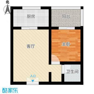 上水观园54.66㎡B户型1室1厅1卫