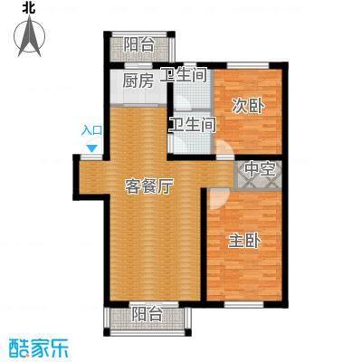 塞纳家园98.32㎡户型2室1厅2卫1厨