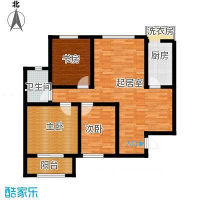 凤河・孔雀英国宫107.80㎡15号楼户型3室2厅1卫