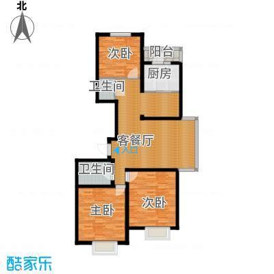 福城阁139.29㎡B户型3室1厅2卫1厨