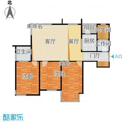 浦江盛景湾156.00㎡房型户型3室2卫1厨