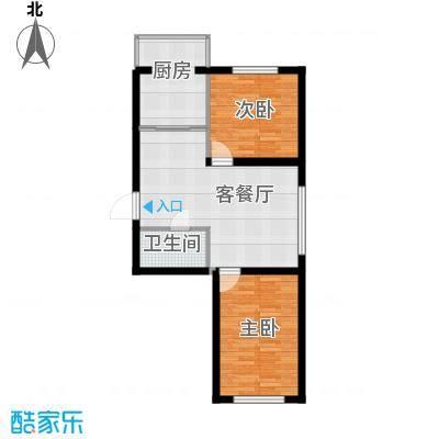 华亨名城62.60㎡户型2室1厅1卫1厨