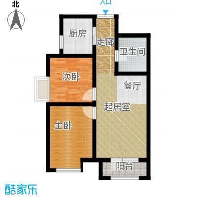 凤河・孔雀英国宫88.28㎡14、17号楼户型2室2厅1卫