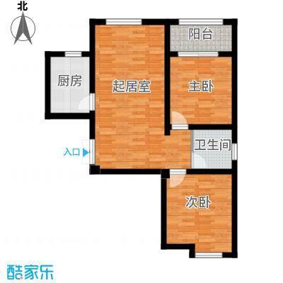 凤河・孔雀英国宫86.58㎡11号楼户型2室2厅1卫