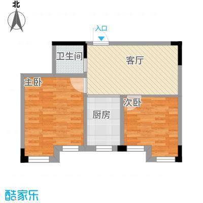 天润中华城55.57㎡户型10室