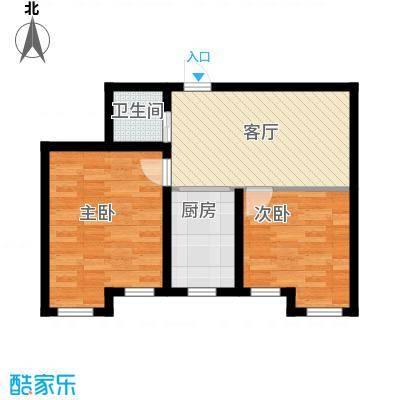 天润中华城69.92㎡B1户型2室1厅1卫
