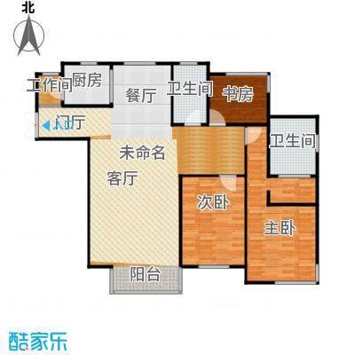 浦江盛景湾158.00㎡d1户型3室2卫1厨