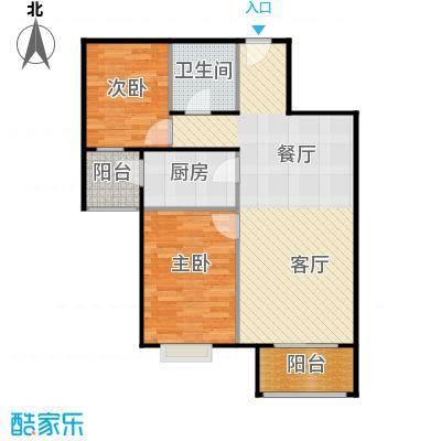 4号线孔雀大卫城90.00㎡HD中间已售完户型2室1厅1卫1厨