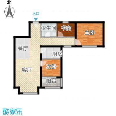 4号线孔雀大卫城91.00㎡D5户型3室1厅1卫1厨