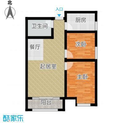 凤河・孔雀英国宫79.07㎡15号楼户型2室2厅1卫