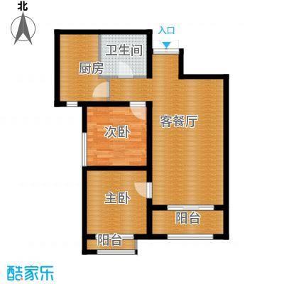 凤河・孔雀英国宫92.09㎡18号楼户型2室2厅1卫