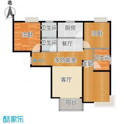 香汐98.50㎡A1-3户型3室2厅2卫