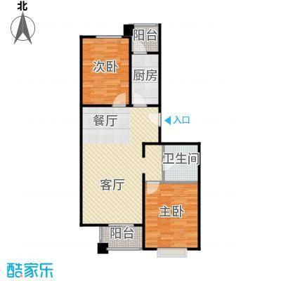 4号线孔雀大卫城90.00㎡MA中间已售完户型2室1厅1卫1厨