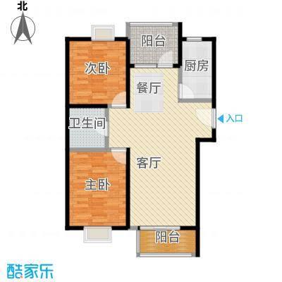 4号线孔雀大卫城90.00㎡HA中间已售完户型2室1厅1卫1厨