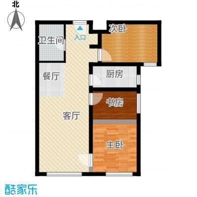 鸿坤・理想湾88.70㎡C户型3室2厅1卫