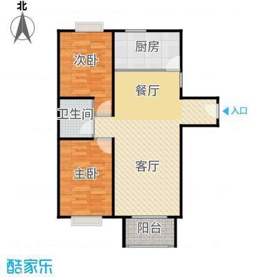 4号线孔雀大卫城90.00㎡HC中间已售完户型2室1厅1卫1厨