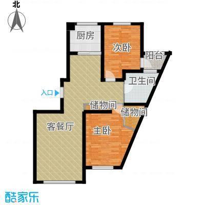 南湖祥水湾91.55㎡户型2室1厅1卫1厨