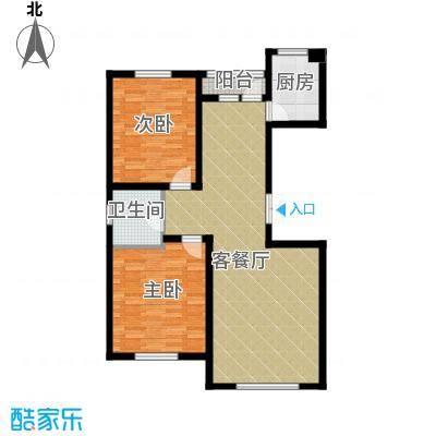 南湖祥水湾91.51㎡户型2室1厅1卫1厨
