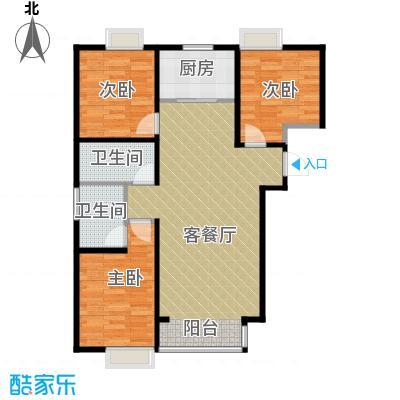 香汐113.50㎡C-4户型3室2厅2卫