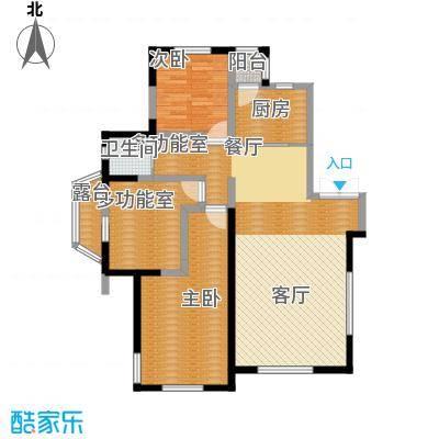 南湖祥水湾122.64㎡高层水晶座、钻石座19#21#楼H户型2室1卫1厨