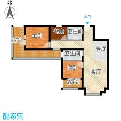 4号线孔雀大卫城91.00㎡五期A3已售完户型3室1厅2卫
