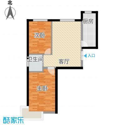 福苑68.28㎡户型2室1厅1卫1厨