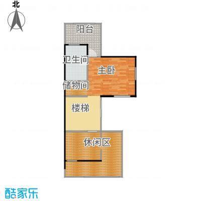 大运河孔雀城74.30㎡b2n三层户型10室