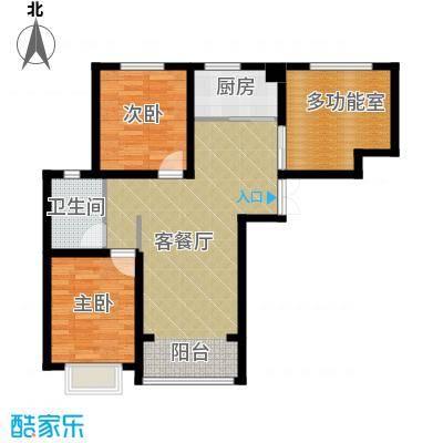 香榭家园86.00㎡图为B1户型2室1厅1卫1厨