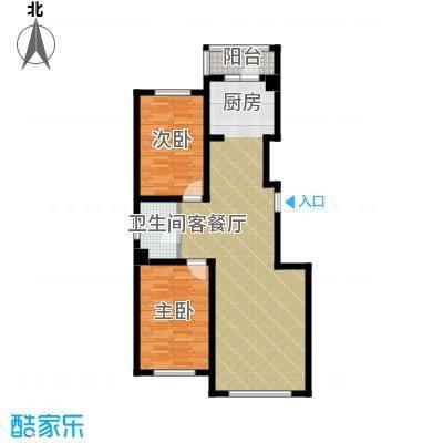 南湖祥水湾86.97㎡户型2室1厅1卫