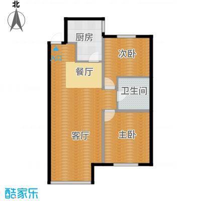 纳帕名门92.08㎡高层G6户型2室1厅1卫