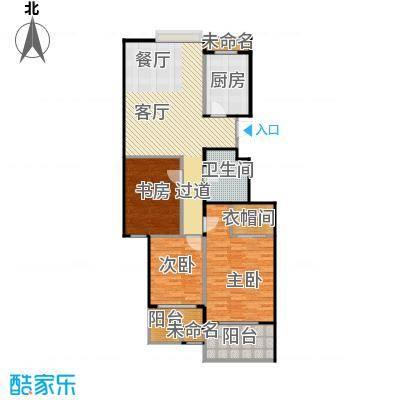 阳光景台116.00㎡2#K奇偶层户型3室1厅1卫1厨