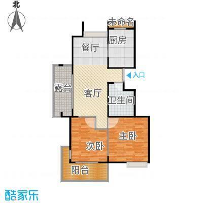 阳光景台87.00㎡1#H偶数层户型2室1厅1卫1厨