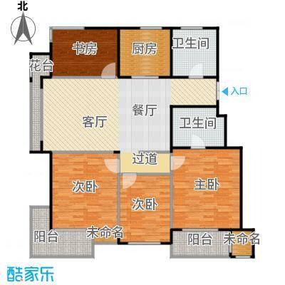 阳光景台134.00㎡5#A1偶数层户型4室1厅2卫1厨