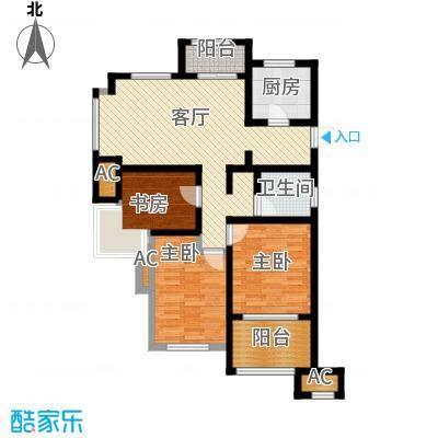 万科草庄89.00㎡A14号8号楼边套7号楼西边套偶数层户型2室1厅1卫1厨