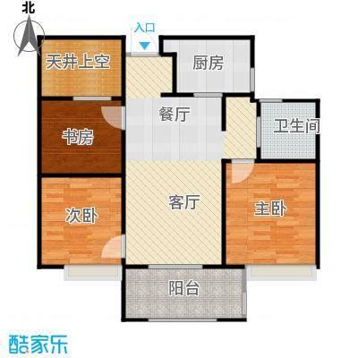 万科草庄89.00㎡A24号7号8号楼中间套户型3室1厅1卫1厨
