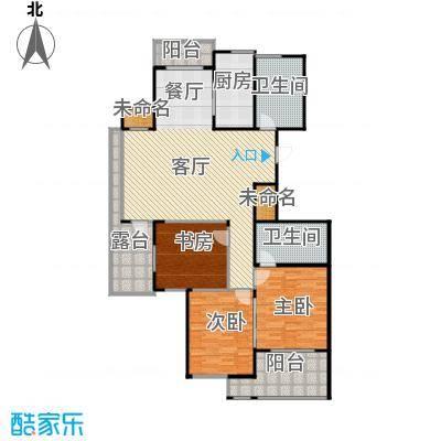 阳光景台135.00㎡3#E奇数层户型3室1厅2卫1厨