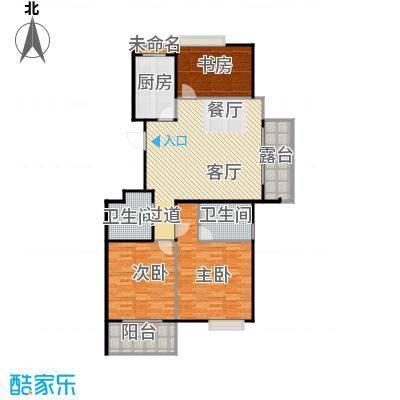 阳光景台120.00㎡2#J奇数层户型3室1厅2卫1厨