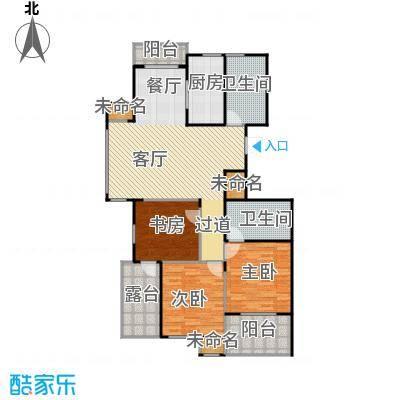 阳光景台135.00㎡3#E偶数层户型3室1厅2卫1厨