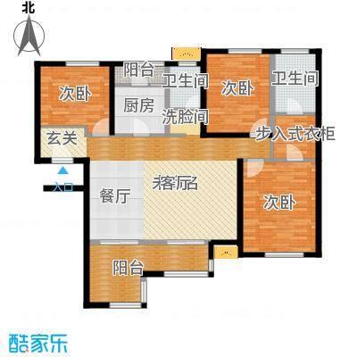 禅城绿地中心128.00㎡银座风度户型4室2厅2卫