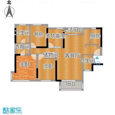 禅城绿地中心141.00㎡铂金人生户型4室2厅2卫