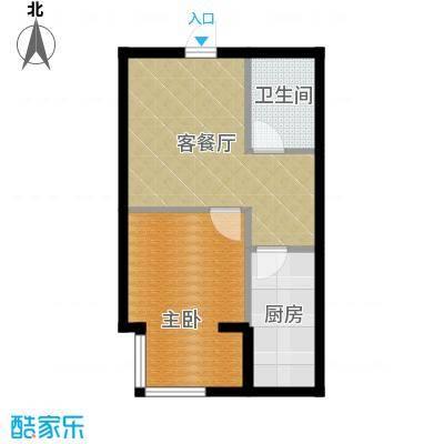 书香人家51.20㎡2号楼户型10室