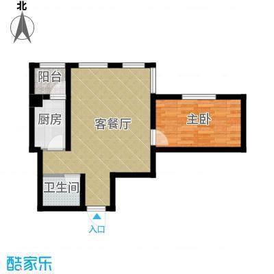 书香人家60.77㎡3号楼户型10室